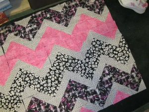 pink, black, white fabric