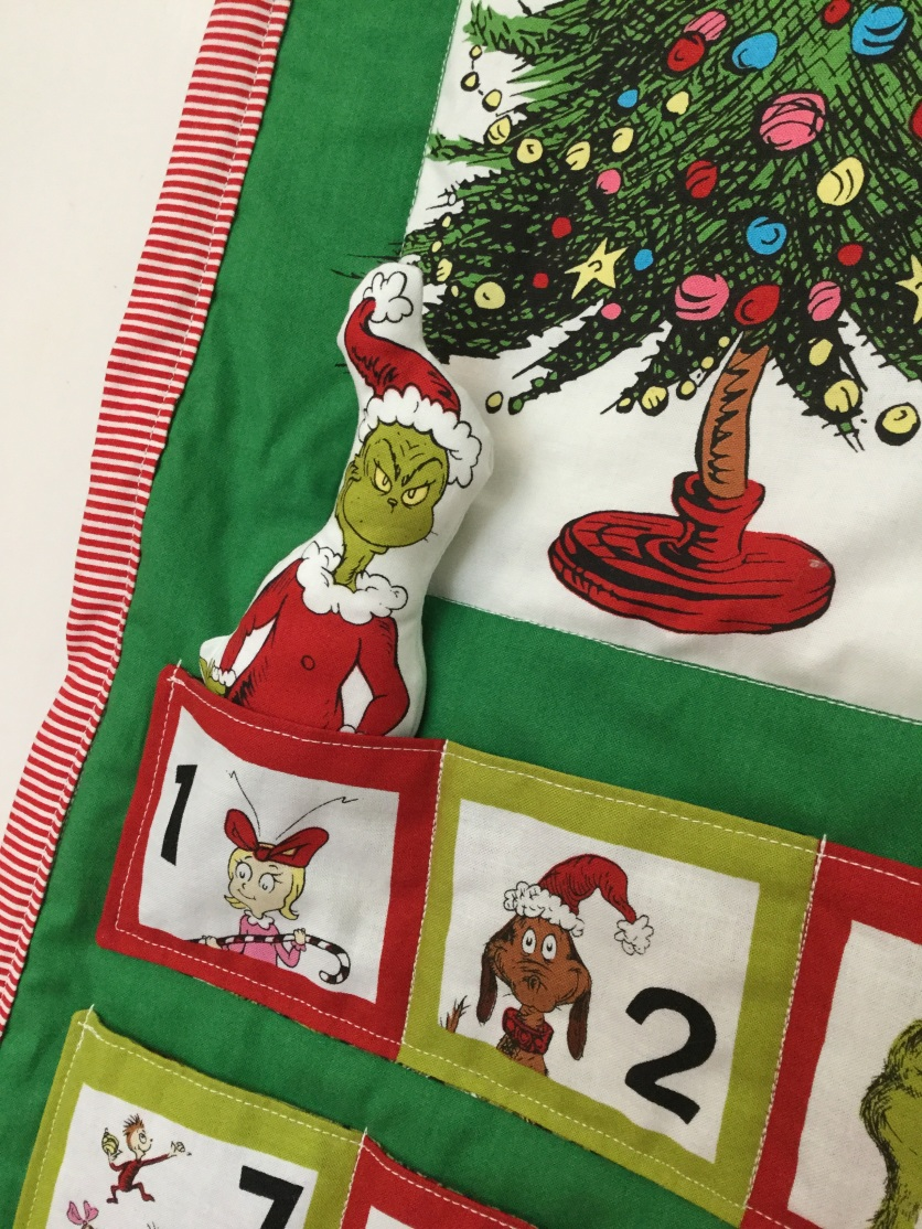 Close up of The Grinch