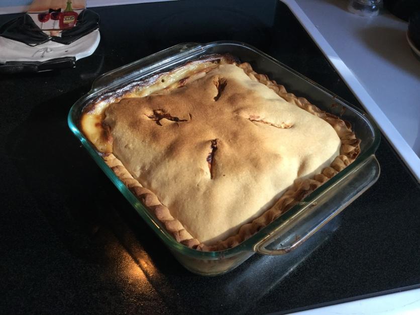 Delicious homemade chicken pot pie
